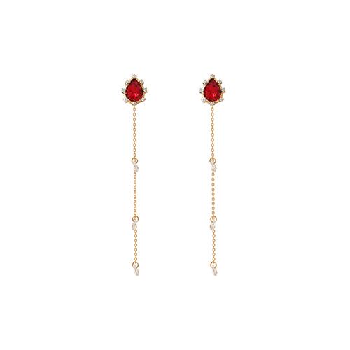 Red Weeping Princess Earrings