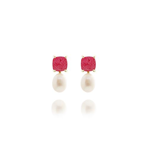 Hotpink Gemstone Post Earrings