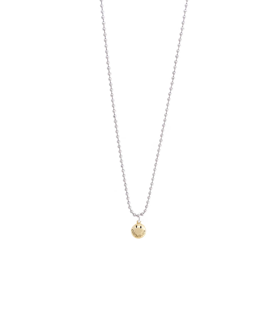 OOPS&OUCH Small Drop Ball Chain Necklace in Gold