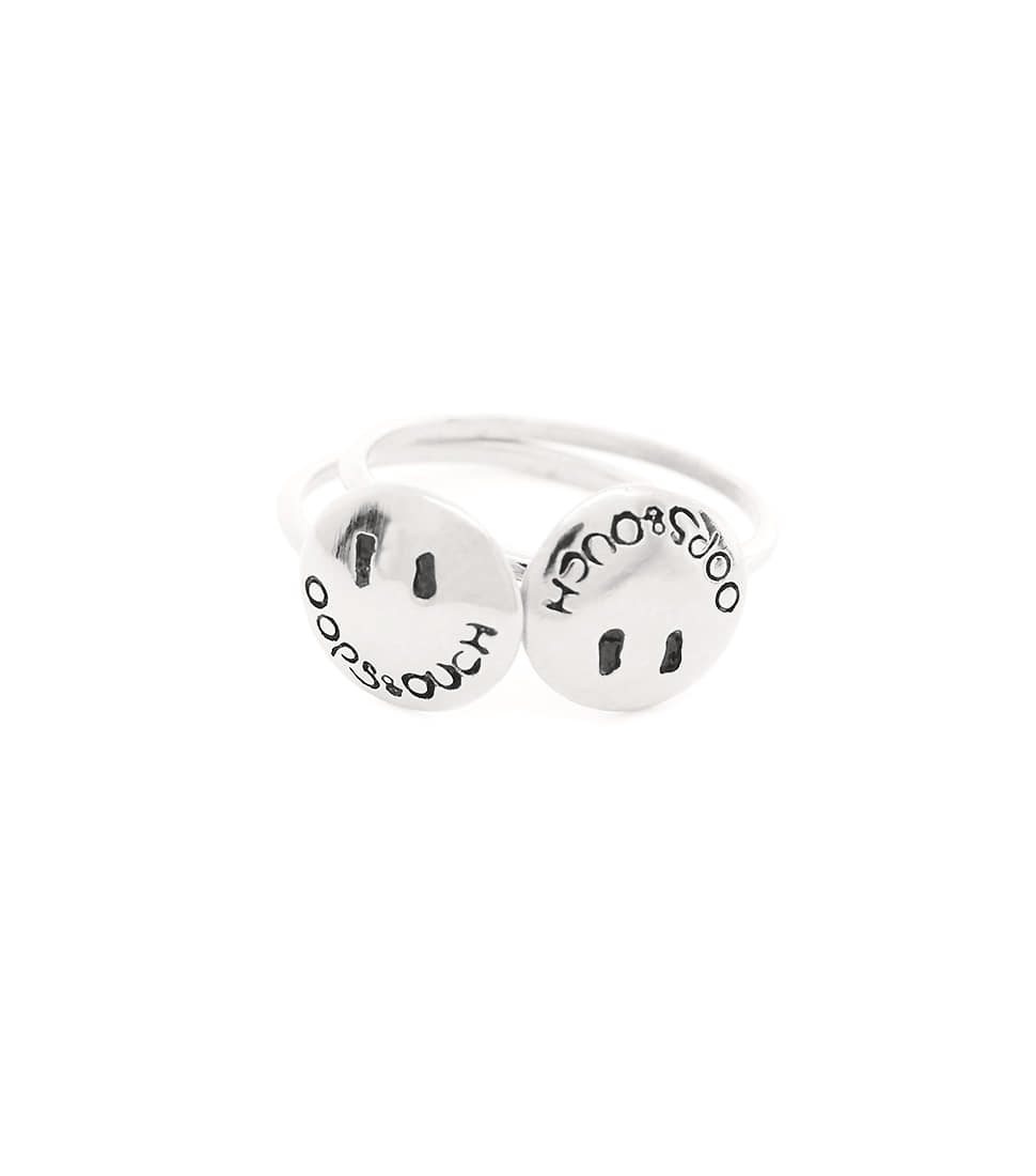 OOPS&OUCH Basic Duo Ring Silver