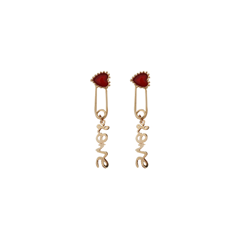 Heart & Love Lettering Earrings