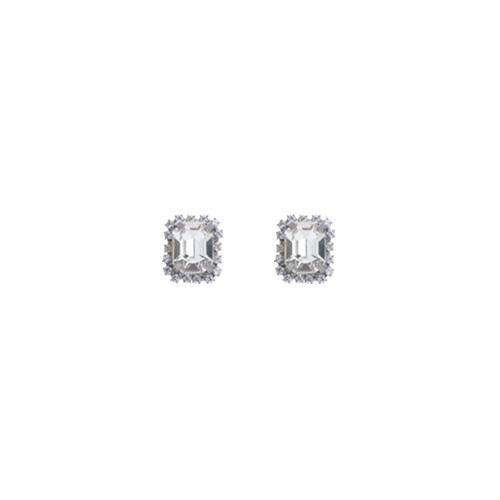 Little Square Crystal Earrings/리틀 스퀘어 크리스탈 귀걸이