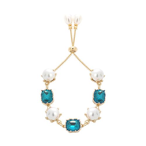 Pearl & Aquamarine Stone Bracelet