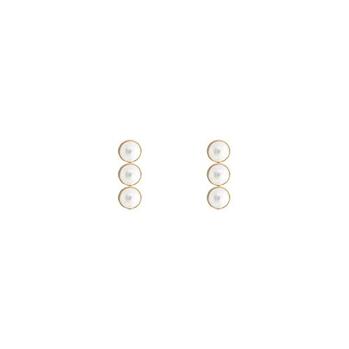 Triple Pearl Post Earrings/트리플 펄 포스트 귀걸이