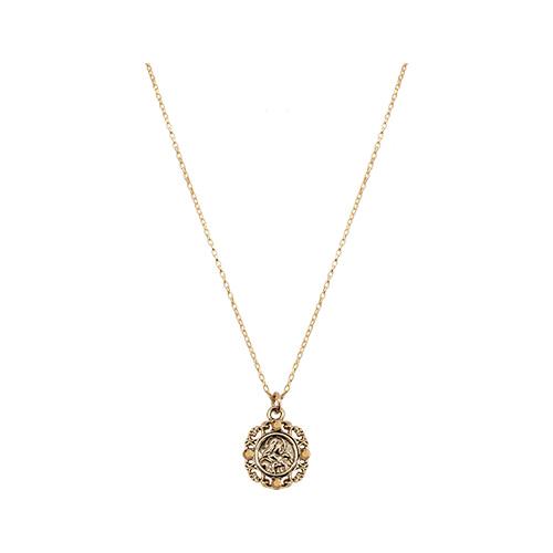 Byzantine Mini Coin Pendant Necklace [Gold]