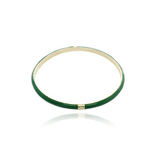 Green Glossy Color Bangle