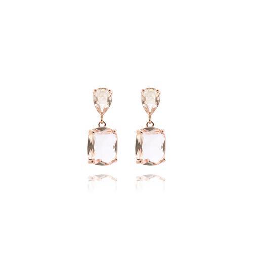 Light Pink Quartz Drop Earrings