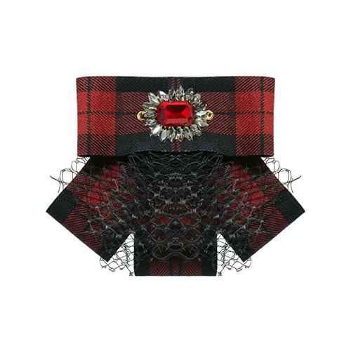Warm Red Ribbon Hairpin/Brooch/웜 레드 리본 헤어핀/브로치