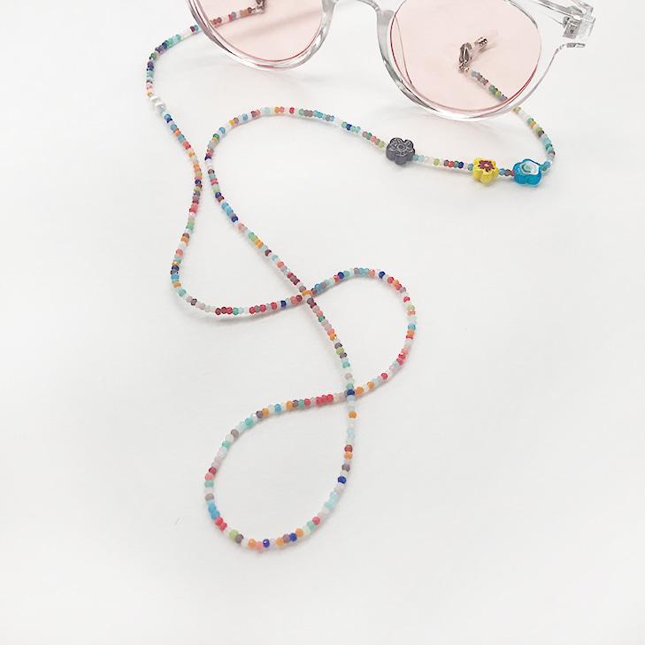 Mask & Sunglasses & Necklace Beads String(1=3)/마스크 & 선글라스 & 네크리스 비즈 스트링(1=3)