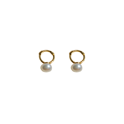 92.5 Silver Pearl Onetouch Earrings/92.5 실버 진주 원터치 귀걸이