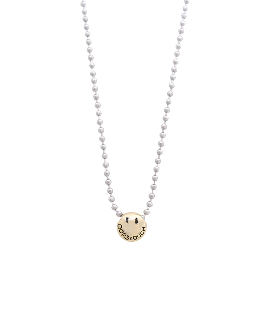 OOPS&OUCH Ball Chain Necklace in Gold