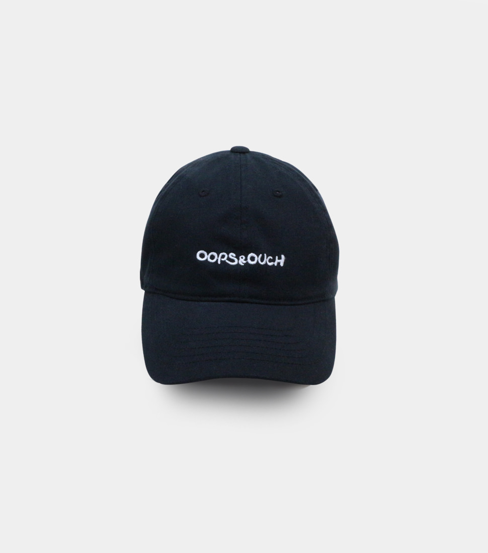 OOPS&OUCH Black Egg Embroidery Ball Cap