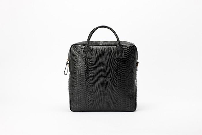 3way leather backpack  [black anaconda]