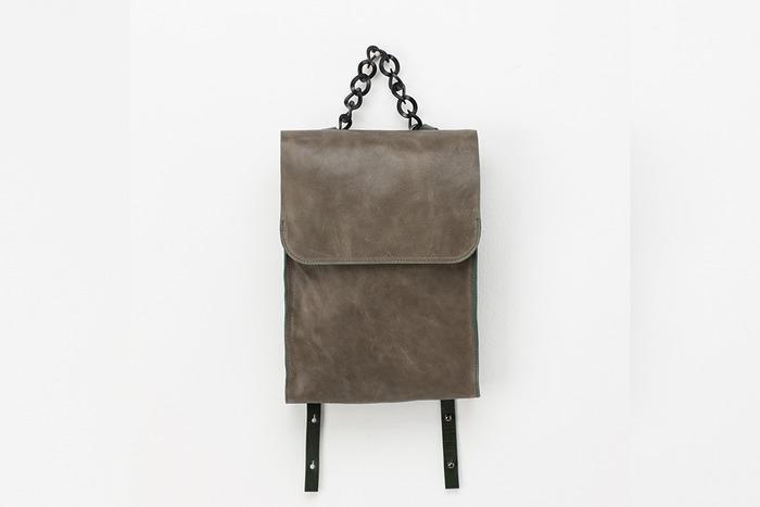 Lambskin Transform backpack [vintage green]