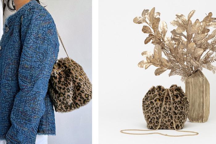 treasure leopard mini bucketbag