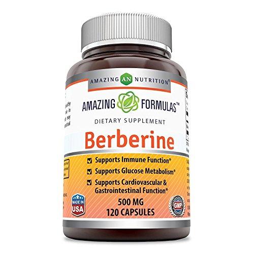 Amazing Formulas Berberine 500mg 120 capsules - Supports Immune Function  Glucose Metabolism and Car