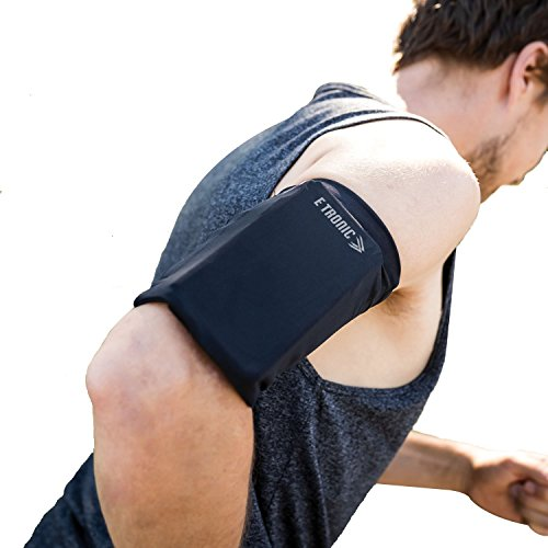 Phone Armband Sleeve: Best Running Sports Arm Band Strap Holder Pouch Case for Exercise Workout Fits