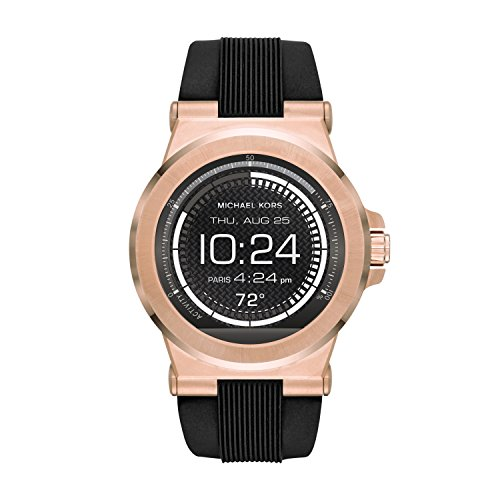 Michael Kors Access  Men's Smartwatch  Dylan Rose Gold-Tone Stainless Steel with Black Silicone  MKT