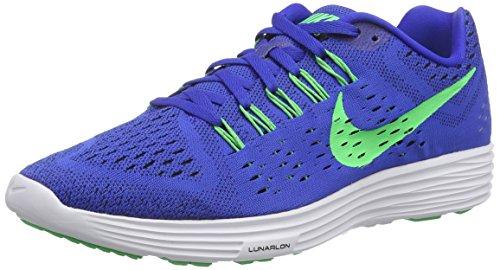 Nike Mens Lunartempo Lyon Blue/Psn Green/White/Blk Running Shoe 11 Men US