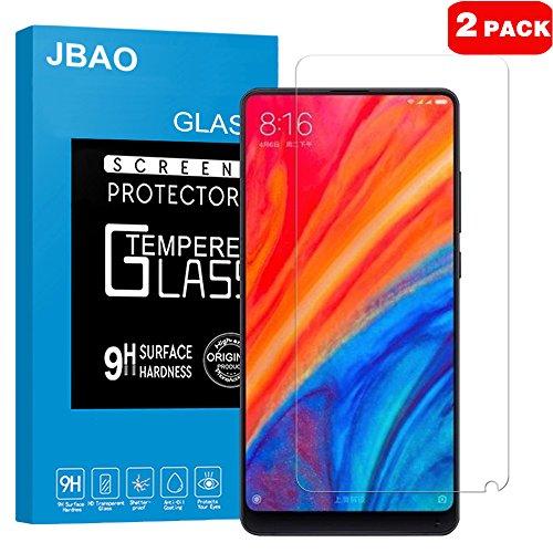 Xiaomi Mi MIX 2S Screen Protector  Jbao Direct [HD Clear] [2.5D Curved Edge] [Anti-Fingerprint] [Bub