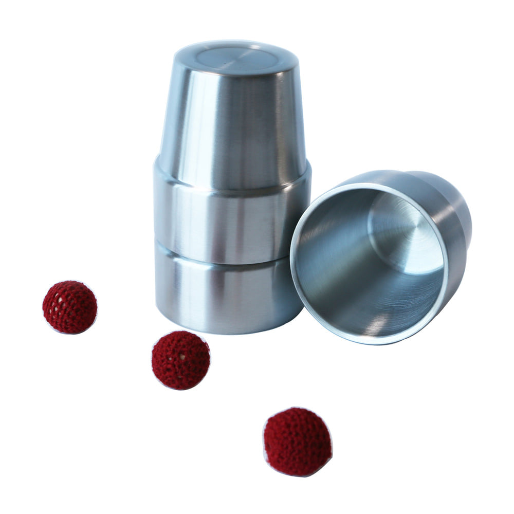 304 Stainless Steel Magic Cups and Balls Magic Tricks304 Stainless Steel Magic Cups and Balls Magic Tricks
