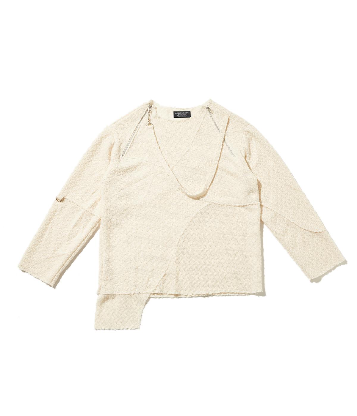 Unbalanced lining knit (Ivory)