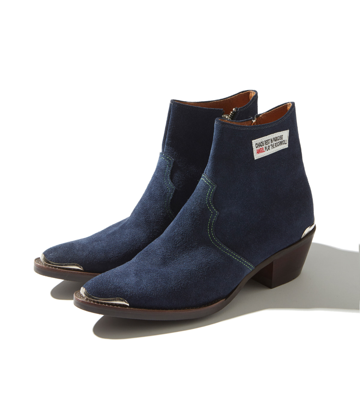 Western Ankle Boots (Navy)