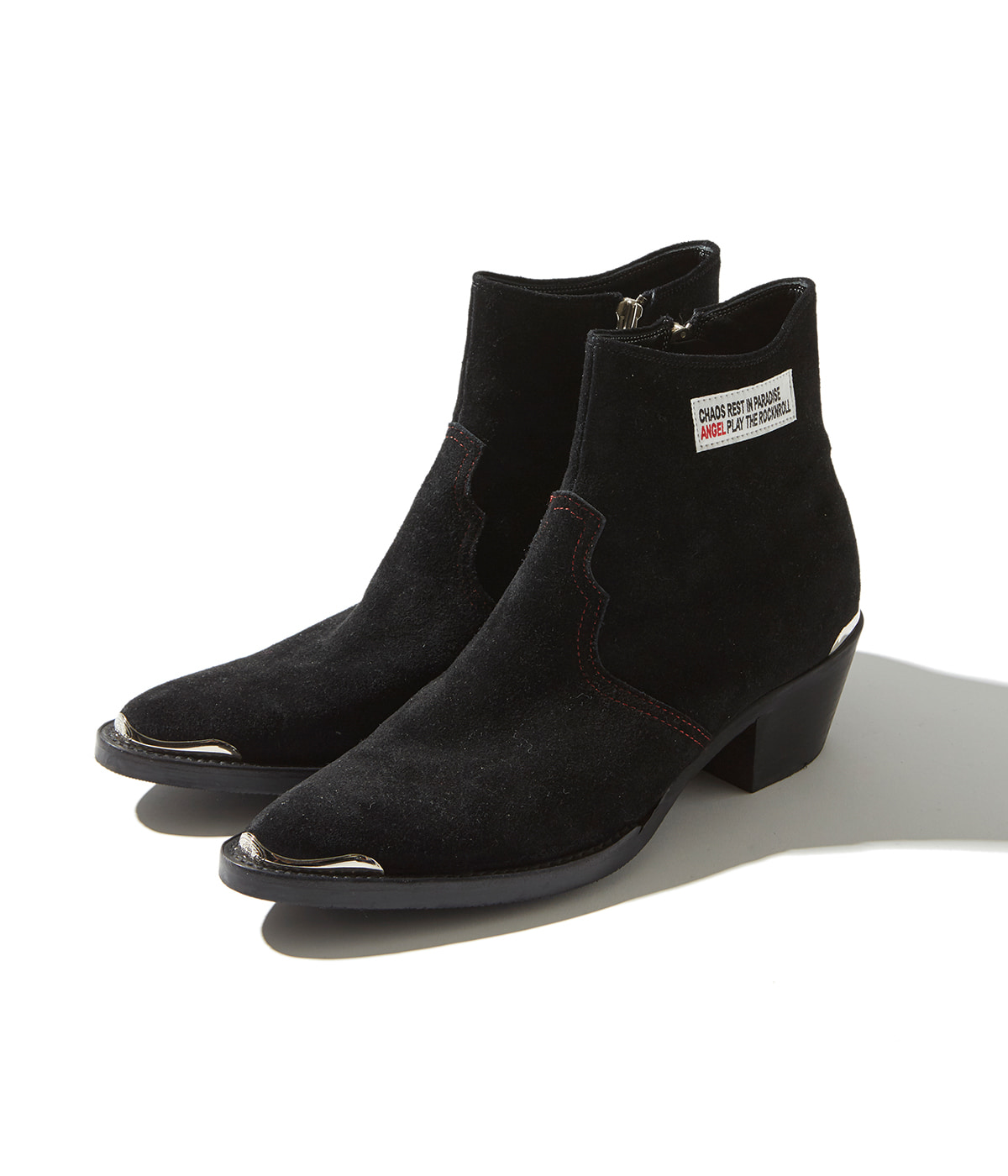Western Ankle Boots (Black)