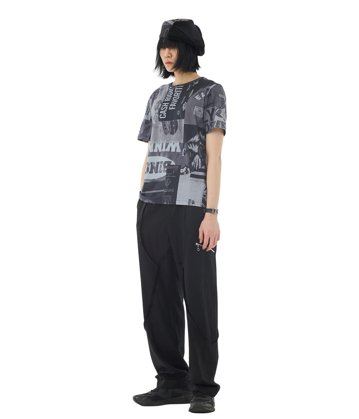 Graphic Patchwork T-shirts (Black)