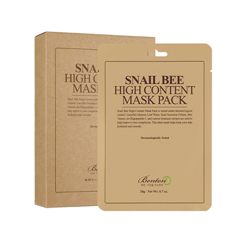 BENTON Snail Bee High Content Mask pack (10sheets)