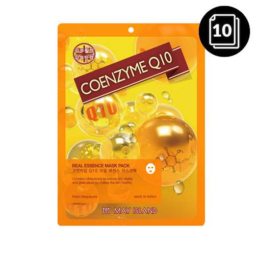 MAY ISLAND Coenzyme Q10 Real Essence Mask Pack 10ea (2021 Renewal)
