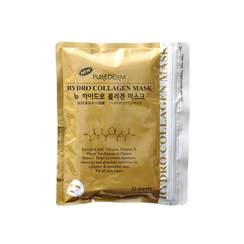 PUREDERM New Hydro Collagen Mask Gold 25sheets