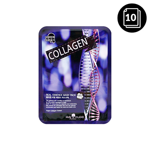 MAY ISLAND Collagen Real Essence Mask Pack 10ea