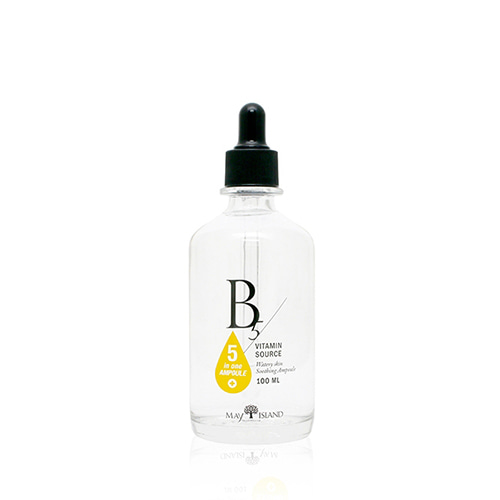 MAY ISLAND B5 Vitamin Source 100mlThe concentrated vitamin ampoule vitalizes the rough skin clearly with fresh moisture. The whitening and anti-aging ampoule helps cell regeneration, keeping the skin healthy and moist. 5 natural extracts and Sodium Hyaluronate Solution 80% moisturizes the skin with vitality.