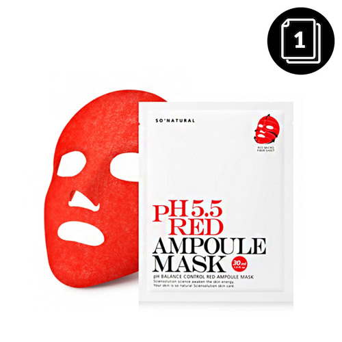 so natural pH 5.5 Red Ampoule Mask 1ea