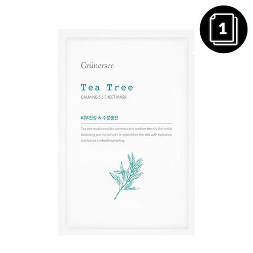 Grunersee Tea Tree Calming 5.5 Sheet Mask 25g * 1ea