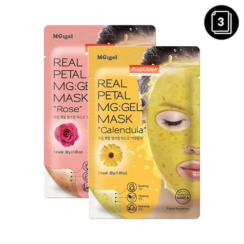 PUREDERM Real Petal Mg:Gel Mask 3ea
