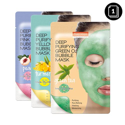 PUREDERM Deep Purifying O2 Bubble Mask 1ea