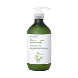 Grunersee Heart Leaf Soothing 5.5 Body Wash 500ml