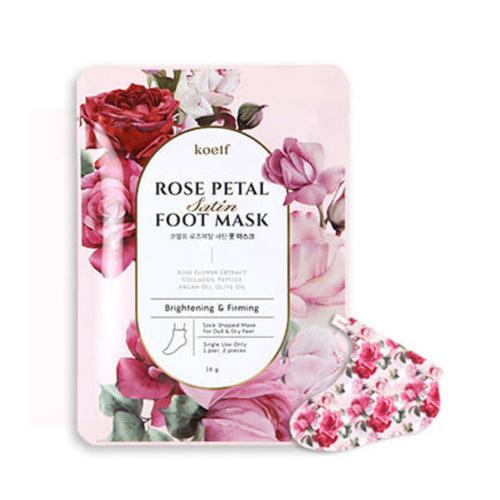 koelf Rose Petal Satin Foot Mask 1ea