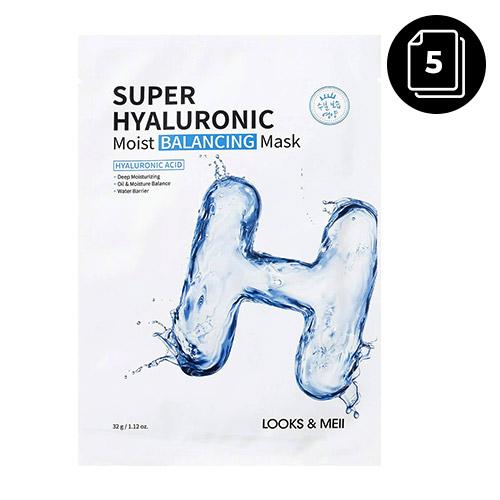 LOOKS&MEII Super Hyaluronic Moist Balancing Mask 5ea