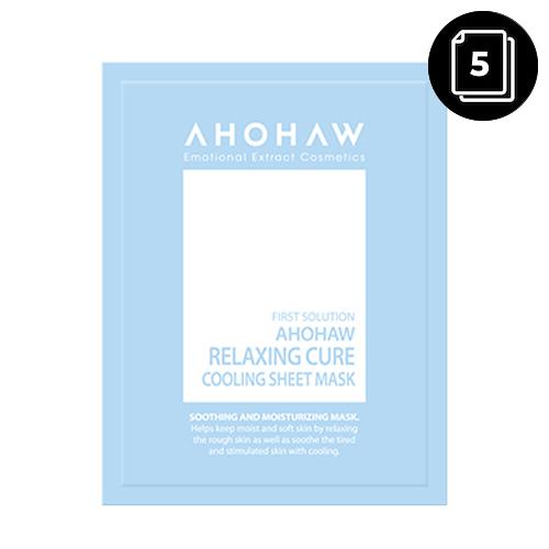 AHOHAW Relaxing Cure Cooling Sheet Mask 30g 5ea
