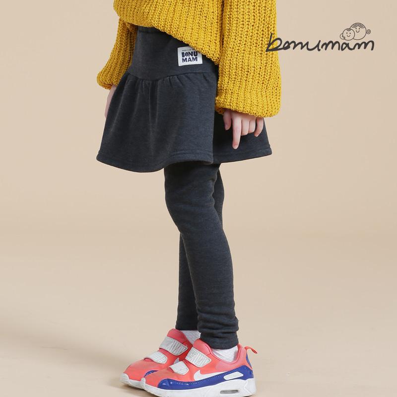 [보누맘]샤이니밍크 치마레깅스-다크그레이 아동내의,실내복,7부내의,5부내의,민소매,어린이집옷,보누맘,동물원내의,보누맘한복,아동한복,전통한복