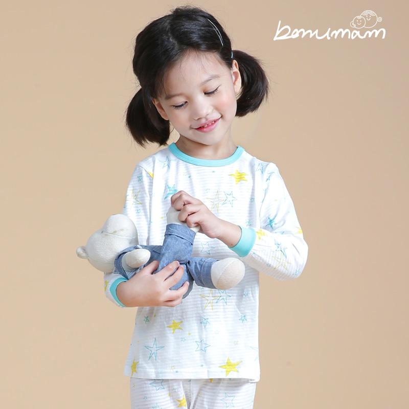 [보누맘]민트별무늬 9부 쟈가드 상하세트 아동내의,실내복,7부내의,5부내의,민소매,어린이집옷,보누맘,동물원내의,보누맘한복,아동한복,전통한복
