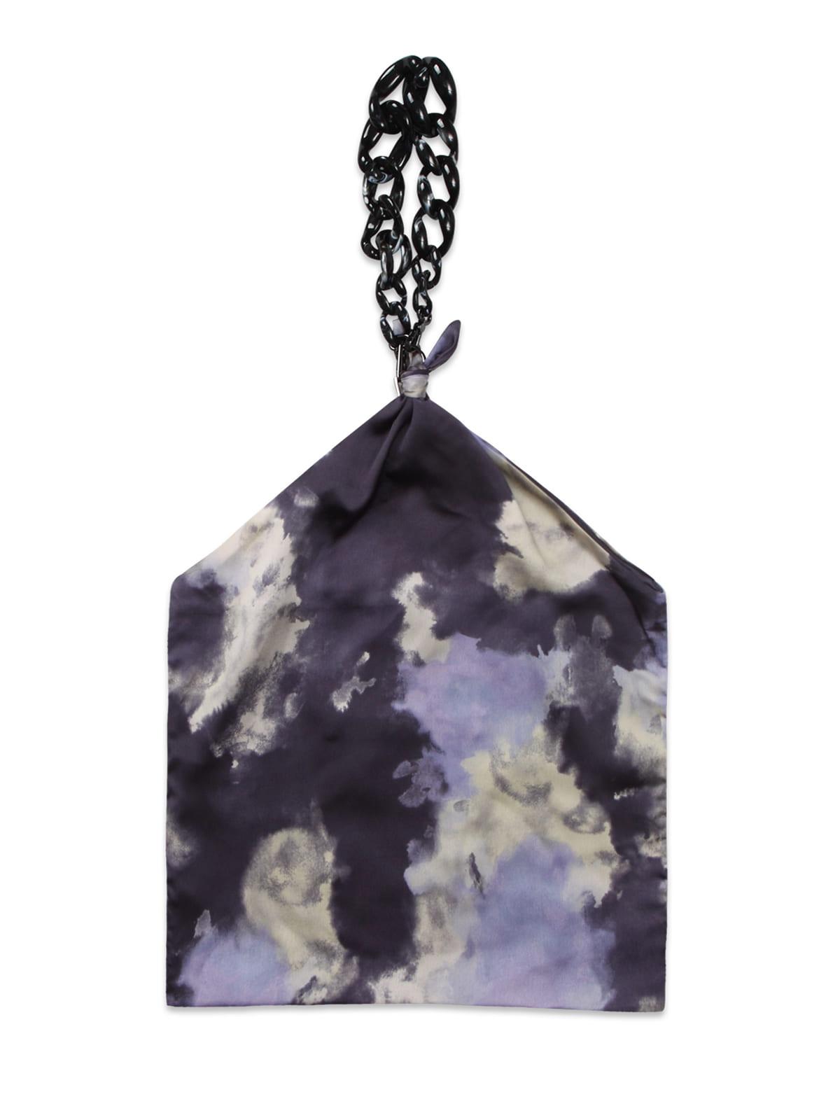 Futuristic Chain Scarf Bag_Purple
