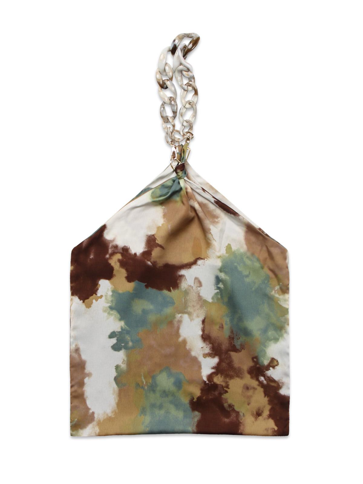 Futuristic Chain Scarf Bag_Brown