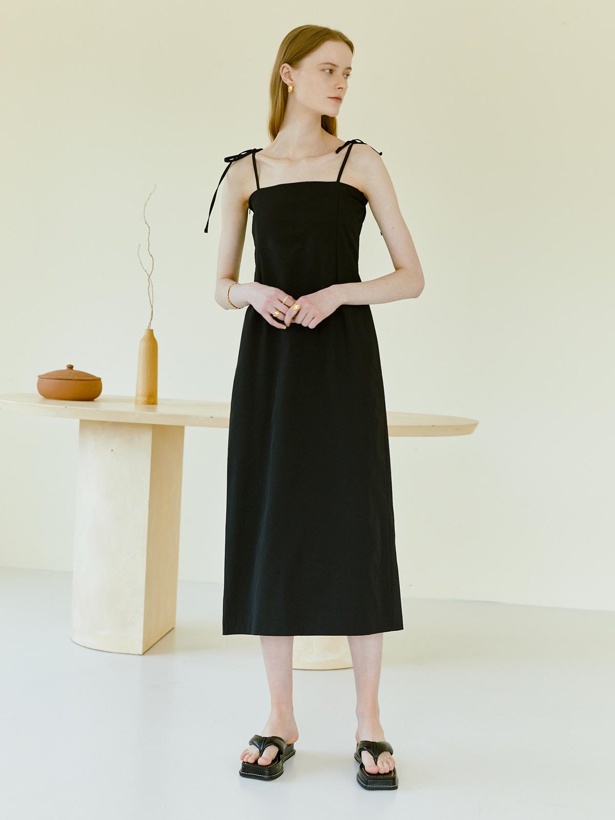 [가수 벤착용]Mille Banding Strap Dress_Black