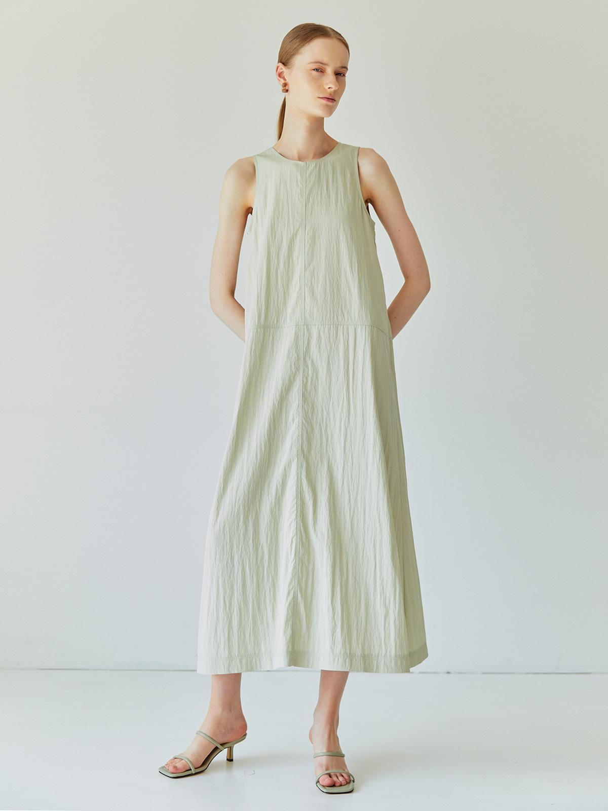 Hannah Long Sleeveless Dress_Mint
