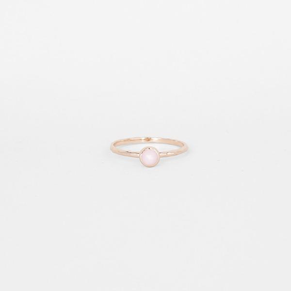 비쥬 10월의 탄생석 핑크 오팔 천연 원석 반지
