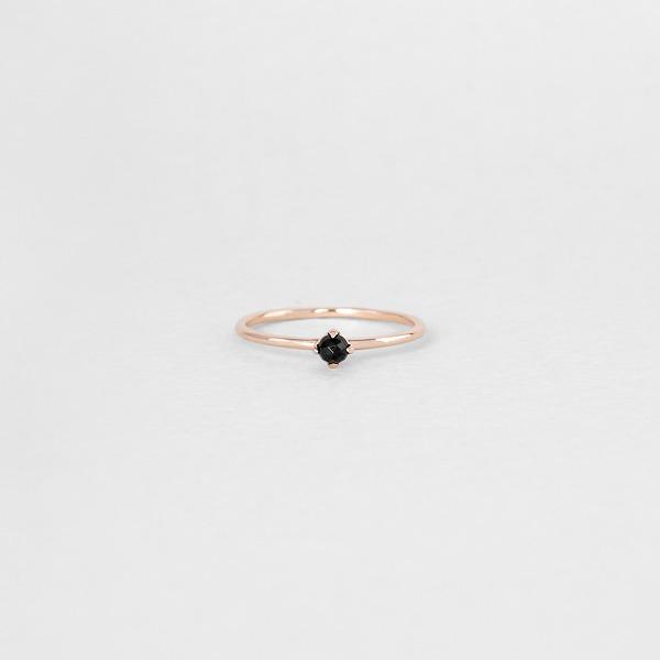 비쥬 블랙 오닉스 천연 원석 반지